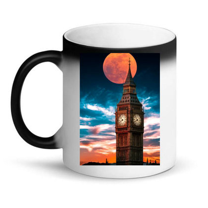 Clock Tower Magic Mug Designed By Sherif.arts