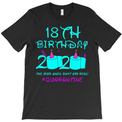 18th Birthday 2020 The Year When Shit Got Real Quarantine T-shirt Designed By Coolkids
