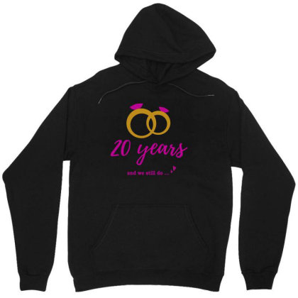 20th Year Anniversary Wedding Gifts For Couple ,mr And Ms, Wife, Lover Unisex Hoodie
