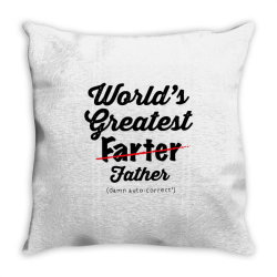 world's greatest farter   funny dad   father's day gift   dad joke Throw Pillow | Artistshot