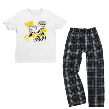 Flcl Youth T-shirt Pajama Set Designed By Paísdelasmáquinas