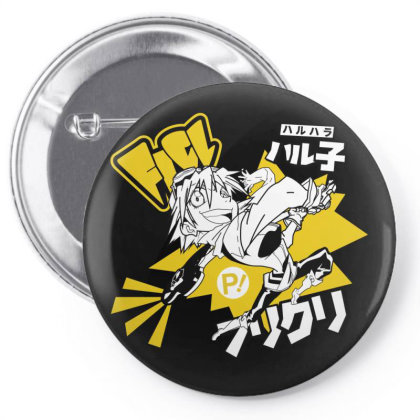 Flcl Pin-back Button Designed By Paísdelasmáquinas