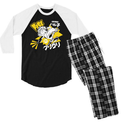 Flcl Men's 3/4 Sleeve Pajama Set Designed By Paísdelasmáquinas