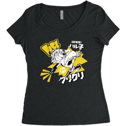 Flcl Women's Triblend Scoop T-shirt Designed By Paísdelasmáquinas