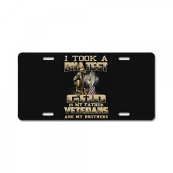 i took a dna test god is my father veterans are my brothers License Plate | Artistshot