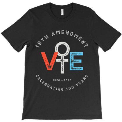 19th Amendment Centennial Logo   Votes T-shirt Designed By Vanitty