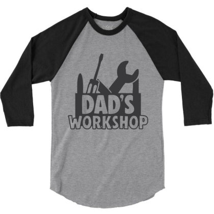 Dad's Workshop 3/4 Sleeve Shirt Designed By Qudkin
