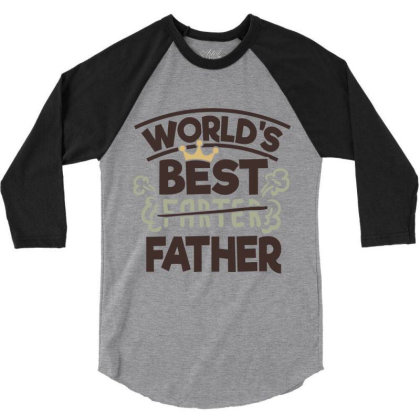 World's Best Father 3/4 Sleeve Shirt Designed By Qudkin