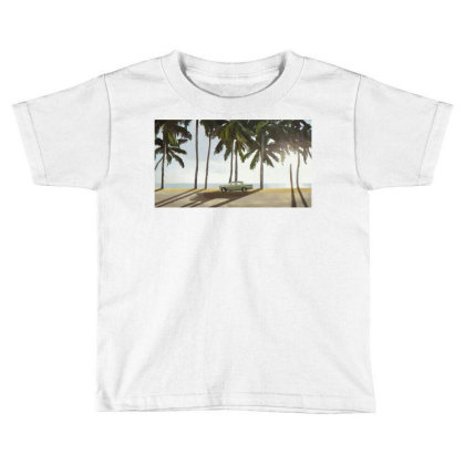 Palm Trees And A Car Toddler T-shirt Designed By Sasha_palm