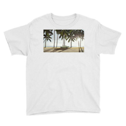 Palm Trees And A Car Youth Tee Designed By Sasha_palm