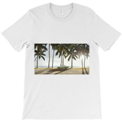 Palm Trees And A Car T-shirt Designed By Sasha_palm