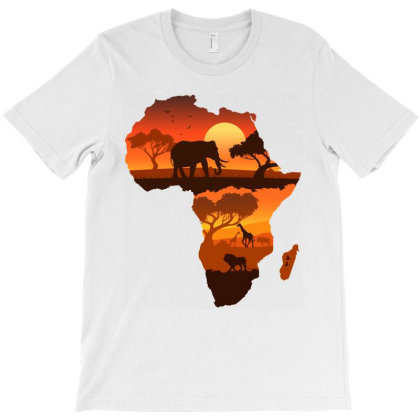 Africa Map T-shirt Designed By Honeysuckle