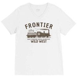 wild west locomotive V-Neck Tee | Artistshot