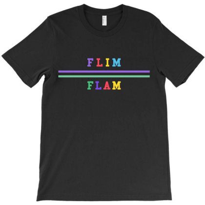 Flim Flam Colored Bars T-shirt Designed By Honeysuckle