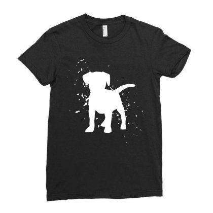 Puppy - Graphic Fashion Ladies Fitted T-shirt Designed By Word Power