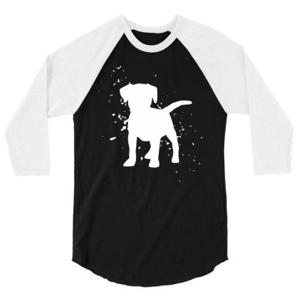 Puppy - Graphic Fashion 3/4 Sleeve Shirt Designed By Word Power