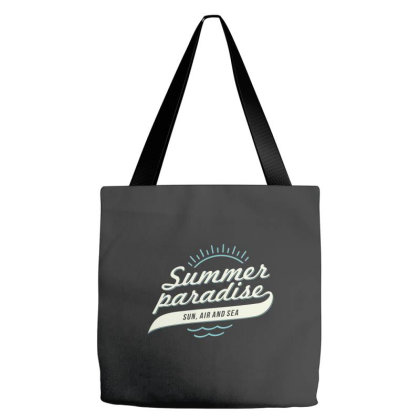 Summer Paradise, Sun, Air And Sea Tote Bags Designed By Estore