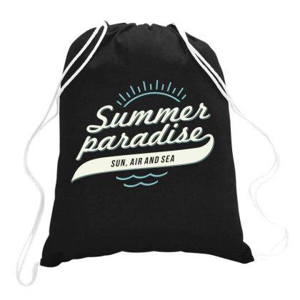 Summer Paradise, Sun, Air And Sea Drawstring Bags Designed By Estore
