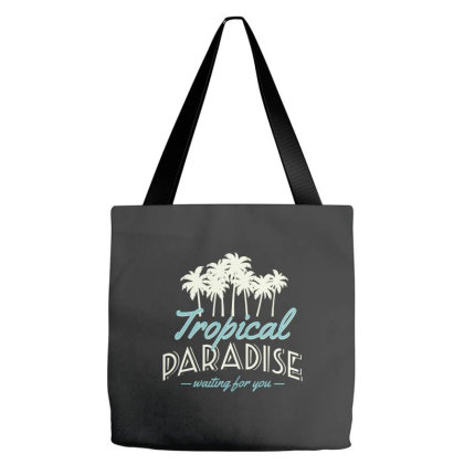 Tropical Paradise, Waiting For You Tote Bags Designed By Estore