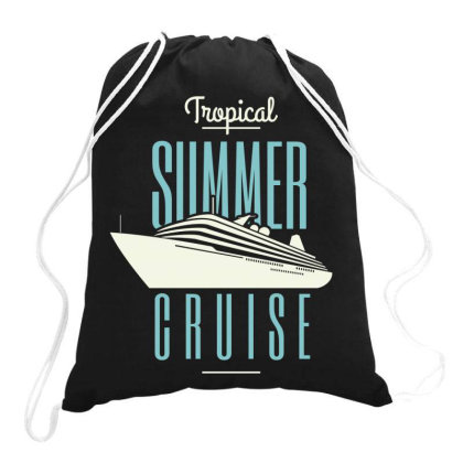 Tropical Summer Cruise Drawstring Bags Designed By Estore