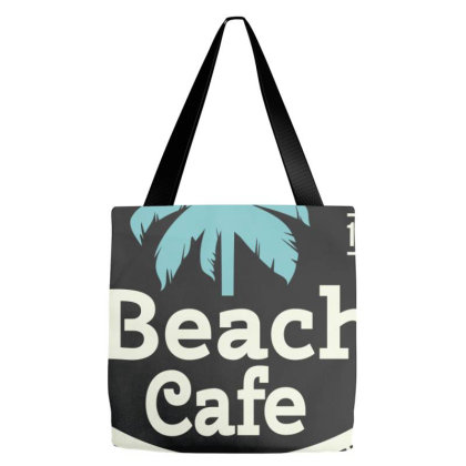 Beach Cafe, Food And Drinks Tote Bags Designed By Estore