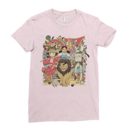 Road To Oz Ladies Fitted T-shirt Designed By Saqman
