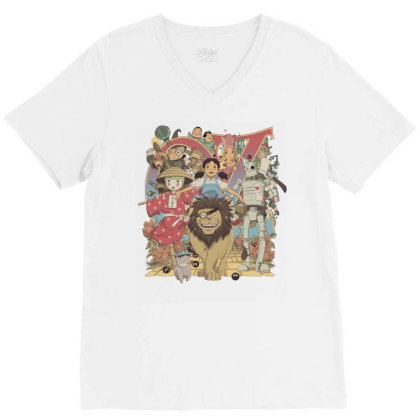 Road To Oz V-neck Tee Designed By Saqman