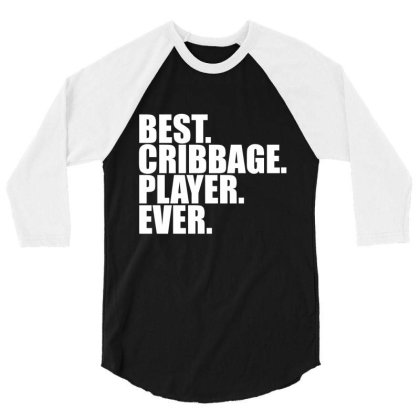 Cribbage Player Gift / Funny Cute Noddy Cribbage Board... 3/4 Sleeve Shirt Designed By Word Power