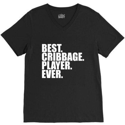 Cribbage Player Gift / Funny Cute Noddy Cribbage Board... V-neck Tee Designed By Word Power