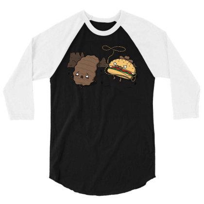 Burgerboy! 3/4 Sleeve Shirt Designed By Raffiti