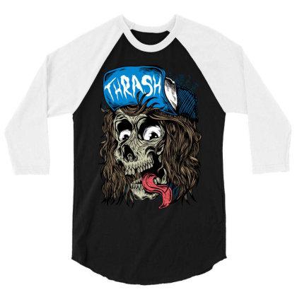 Thrash 3/4 Sleeve Shirt Designed By Kranxdesign