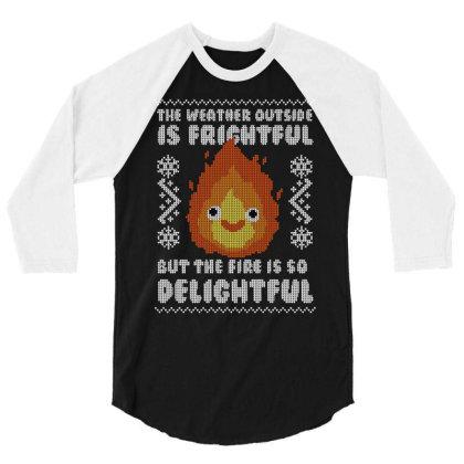 Delightful Fire! 3/4 Sleeve Shirt Designed By Raffiti