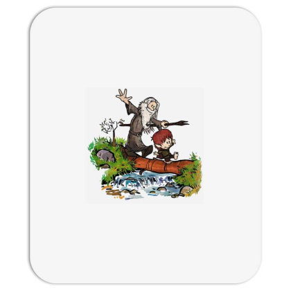 Lord Of The Rings Meets Calvin And Hobbes Mousepad Designed By Pipikin