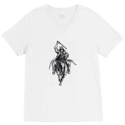 Ninja, Viking, Skull V-neck Tee Designed By Estore