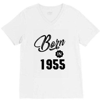Born In 1955 V-neck Tee Designed By Chris Ceconello