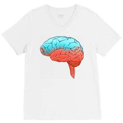 High Brain V-neck Tee Designed By Sketchfunart
