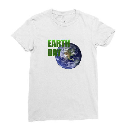 Earth Day Ladies Fitted T-shirt Designed By Mircus