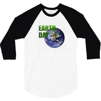 Earth Day 3/4 Sleeve Shirt Designed By Mircus