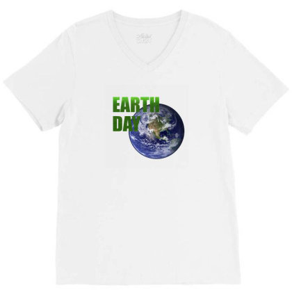 Earth Day V-neck Tee Designed By Mircus