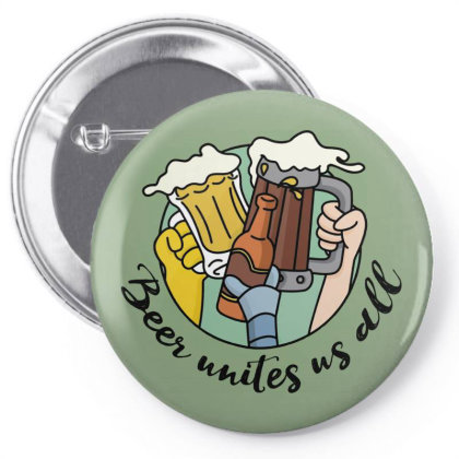 Beer Unite Us All Pin-back Button Designed By Fr47