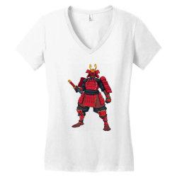 Samurai, ninja, skull Women's V-Neck T-Shirt | Artistshot