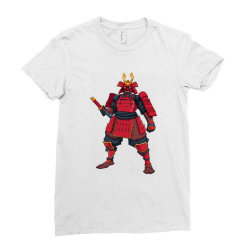 Samurai, ninja, skull Ladies Fitted T-Shirt | Artistshot