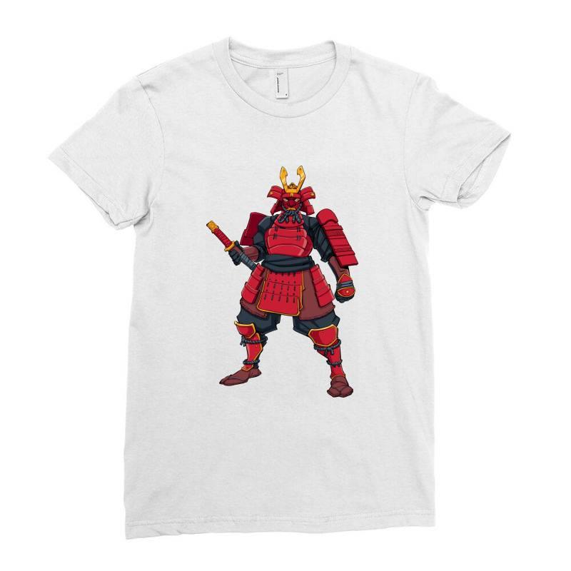 Samurai, Ninja, Skull Ladies Fitted T-shirt | Artistshot