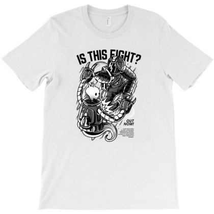 Is This Fight  Illustration T-shirt Designed By Komodo Dragon