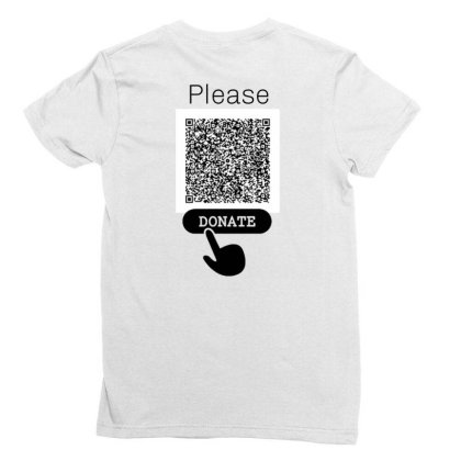 Donate Ladies Fitted T-shirt Designed By Mr.prit