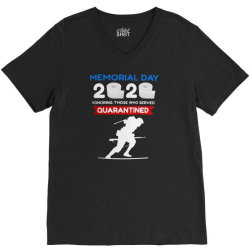 memorial day 2020 quarantined V-Neck Tee | Artistshot