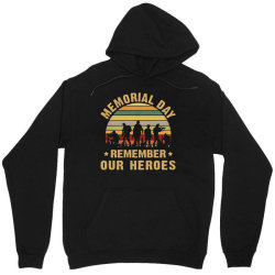 Memorial Day Remember Our Heroes Unisex Hoodie Designed By Kakashop