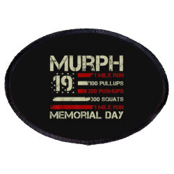 Murph 19 Memorial Day Oval Patch Designed By Kakashop