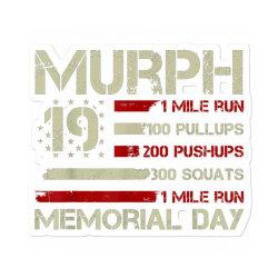 Murph 19 Memorial Day Sticker Designed By Kakashop