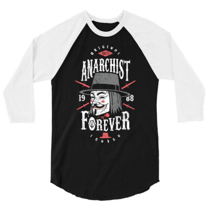 Anarchist Forever 3/4 Sleeve Shirt Designed By Olipop